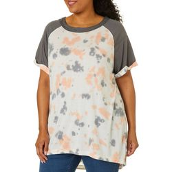 Brisas Plus Tie Dye Raglan Sleeve Top