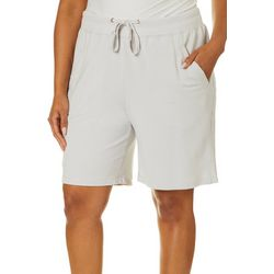 Brisas Plus Solid French Terry Pull On Shorts