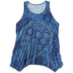 Plus Mandala Asymmetric Tank Top