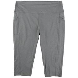 Plus Heathered Soft Capris