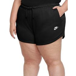 Plus Solid Drawstring Shorts With Nike Sign On Side