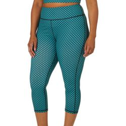 Yogatech Plus Geometric Printed Stretch Capris