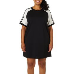 Yogatech Plus Solid Striped Active T-Shirt Dress
