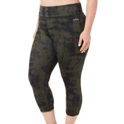 Spalding Plus Tie Dye Heathered Crop Leggings