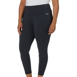 Spalding Plus Solid Heathered High Waist Ankle Leggings