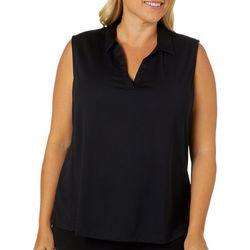 PGA TOUR Plus AirFlux Solid Sleeveless Polo Shirt