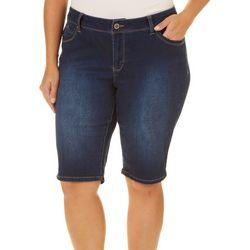 Royalty by YMI Plus WannaBettaButt Denim Bermuda Shorts