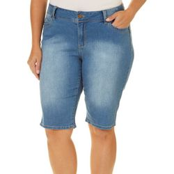 Royalty by YMI Plus WBB Denim Bermuda Shorts