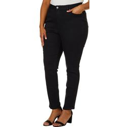Royalty by YMI Juniors Plus Hide Your Muffin Top Solid Jeans