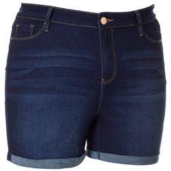 Royalty by YMI Juniors Plus Roll Cuff Denim Shorts