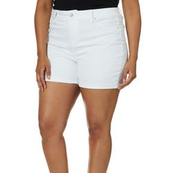Royalty by YMI Juniors Plus No Muffin Top Roll Cuff Shorts