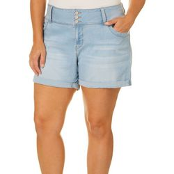 Royalty by YMI Plus Mid-Rise Denim Roll Cuff Shorts