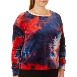 Eye Candy Juniors Plus Tie Dye Pull Over Sweatshirt