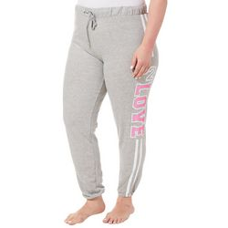 Eye Candy Juniors Plus Athletic Striped Love Jogger Pants