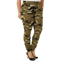 Eye Candy Juniors Plus Camo Print Zipper Pocket Jogger Pants