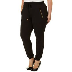 Eye Candy Juniors Plus Solid Jogger Pants