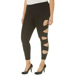 Eye Candy Plus Side Cut Out Ankle Leggings