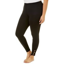 Eye Candy Plus Ankle Crisscross Cut Out Leggings