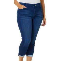 Celebrity Pink Juniors Plus Roll Cuff Crop Jeans