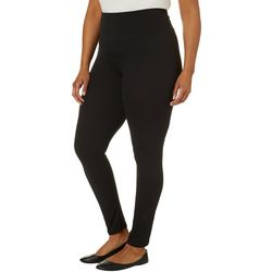 Hot Kiss Juniors Plus Solid High Waisted Leggings