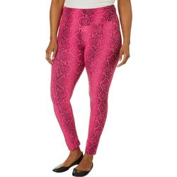 Hot Kiss Juniors Plus Colorful Snakeskin Print Leggings