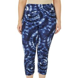 Hot Kiss Juniors Plus Tie Dye Capri Leggings