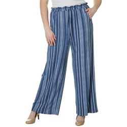 Derek Heart Juniors Plus Speckled Stripe Pull On Pants