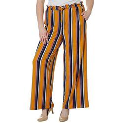 Derek Heart Juniors Plus Striped Wide Leg Pull On Pants