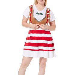 Derek Heart Juniors Plus Jolly Striped Sweater Dress