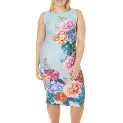 Derek Heart Juniors Plus Floral Midi Dress