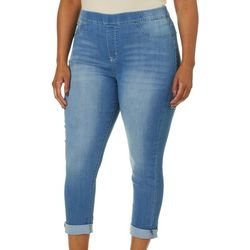 Wallflower Juniors Plus Rolled Crop Jeans