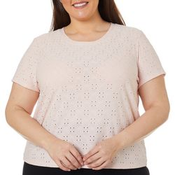 Juniors Plus Eyelet Top