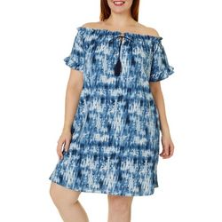 Paper Doll Juniors Plus Tie Dye Shift Dress
