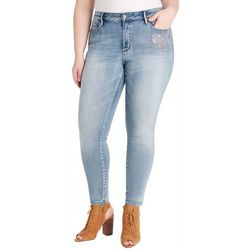 Jessica Simpson Plus Foil Embellished High Rise Denim Jeans