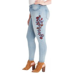 Jessica Simpson Plus Floral Embroidered High Rise Jeans