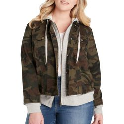 Jessica Simpson Plus Peony Camo Knit Jacket