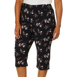 Joe Benbasset Juniors Plus Floral Pedal Pusher Capris