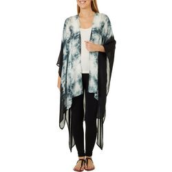 Say What? Juniors Plus Tie Dye Kimono Wrap