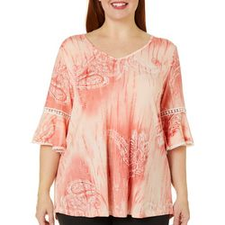 Stem & Vine Plus Juniors Paisley Top