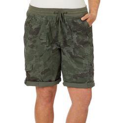 Unionbay Juniors Plus Betsy Camo Cargo Bermuda Shorts