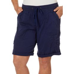 Unionbay Juniors Plus Betsy Solid Cargo Bermuda Shorts