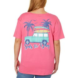 Messy Buns, Lazy Days Juniors Plus Seas The Day T-Shirt