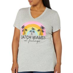 Be-You-Tiful Juniors Plus Catch Waves Not Feelings Top