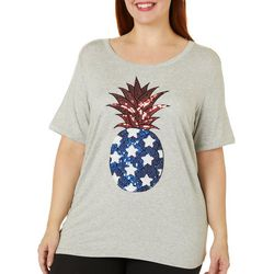 Juniors Plus Pineapple T-Shirt
