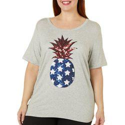 Juniors Plus Pineapple T-Shirt