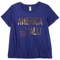 Messy Buns, Lazy Days Juniors Plus America Ya'll T-Shirt