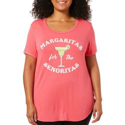 Messy Buns, Lazy Days Juniors Plus Margaritas T-Shirt