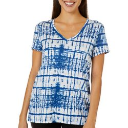 Dept 222 Plus Shibori Tie Dye Print V-Neck T-Shirt