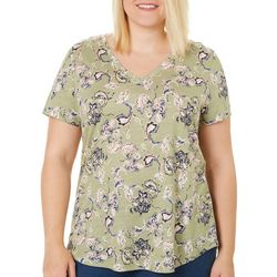 Dept 222 Plus Petal Print Top