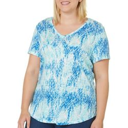Dept 222 Plus Tribal Ikat Print V-Neck Top